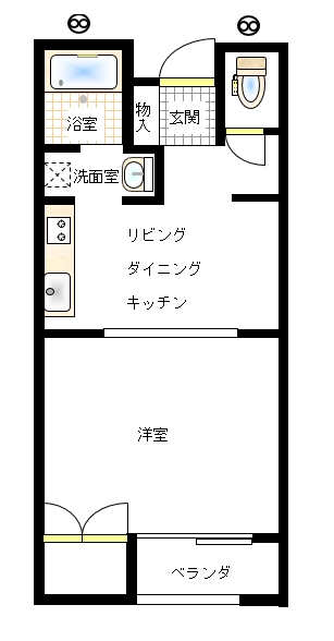 クレセントハウス亀ヶ崎 タイプB