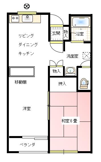 クレセントハウス亀ヶ崎 タイプA