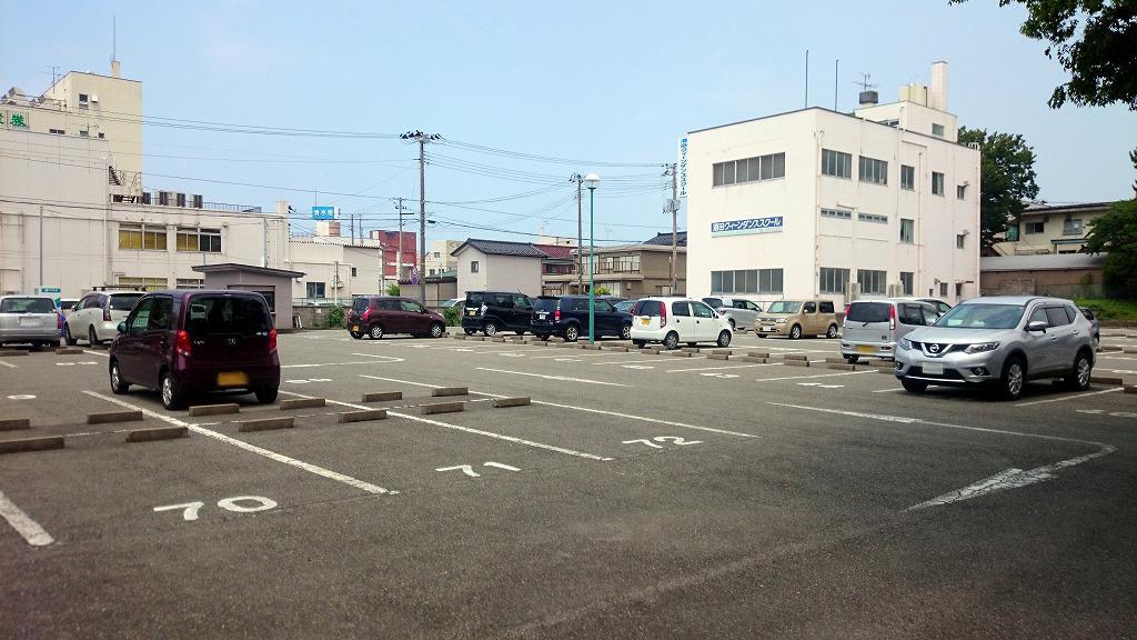 酒田市庁舎改築工事に伴う工事業者向け駐車場のご案内